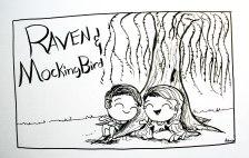 raven_mocking_bird_tree