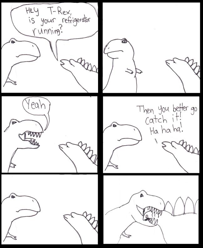 Abe T-Rex Running